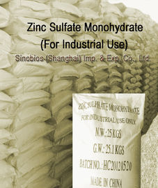 China Industrial Grade Zinc Sulfate Monohydrate 98% Liquid Trace Minerals CAS 7446-19-7 SBC-ZINSM98N supplier