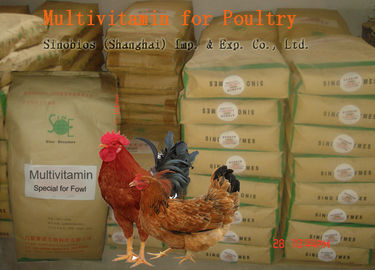 China Poultry Powdered Multivitamin Mix , Feed Grade Powder Multi Vitamin No. SV-M-P01 supplier
