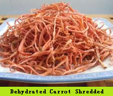 China SDV-CARSHR Dehydrated Vegetables Orange Red Finely Shredded Carrots 3×3×20 mm distributor